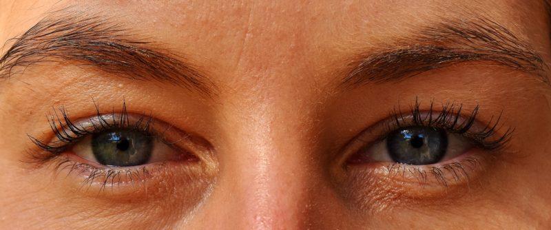 顔の両目部分のアップ